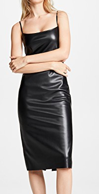 Theory Skinny Faux Leather Slip