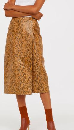 HM leather midi skirt