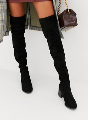 New Look Over The Knee Block Heel Boot