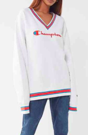 Champion & UO Fleece V-Neck Sweatshirt