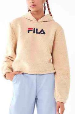 FILA + UO Teddy Hoodie Sweatshirt