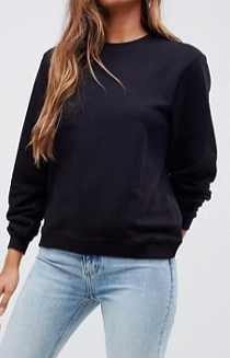 ASOS DESIGN ultimate sweat in black