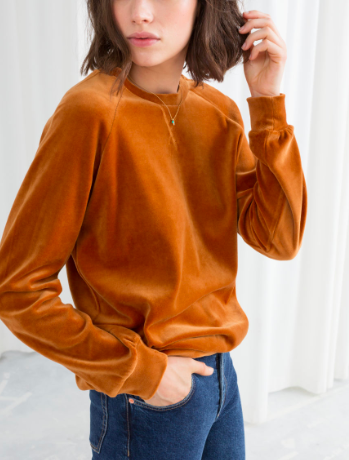 STORIES Velour Sweatshirt