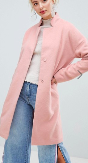 Fashion Union Coat With Minimal Collar
