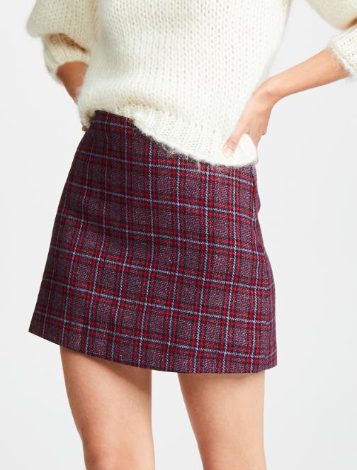 Valencia & Vine Tweed Mini Skirt