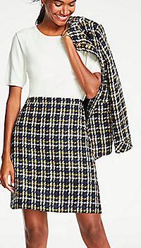 Ann Taylor Tweed A-Line Skirt