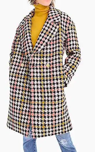 Collection Lurex® tweed oversized coat