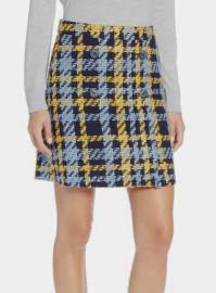 Button Detail Plaid Skirt HALOGEN®