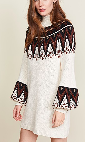 Free People Scotland Sweater Mini Dress