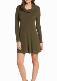 Rib Knit Cowl Neck Dress BP.