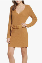 Belted Sweater Dress LEITH