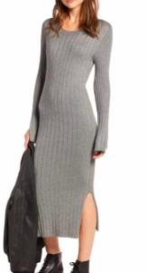 Ribbed Sweater Dress TREASURE & BOND
