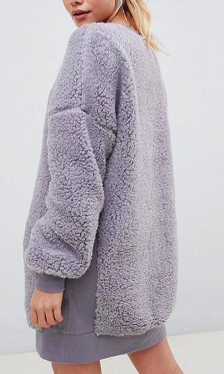ASOS DESIGN borg sweater dress