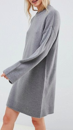 ASOS DESIGN knitted mini dress in fluffy yarn