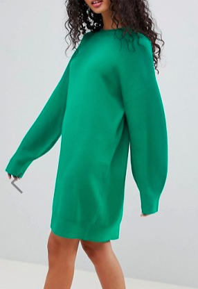 ASOS DESIGN Knitted Dress With Balloon Sleeve