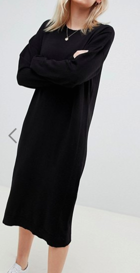 ASOS DESIGN sweater dress in fine knit