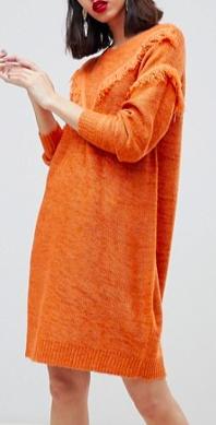 Vero Moda Tassel Front Knitted Dress