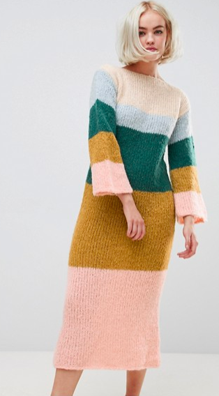 OneOn hand knitted fluffy dreams sweater dress
