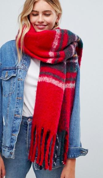 Hollister plaid scarf