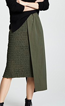 EDIT Ruched Skirt