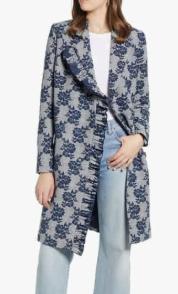 Ruffle Front Topper Coat HALOGEN®