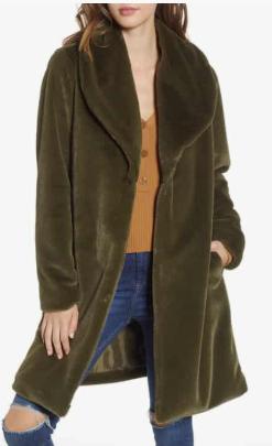 Faux Fur Long Coat LEITH