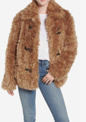 Faux Fur Teddy Coat AVEC LES FILLES Price