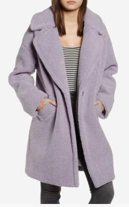 Faux Fur Teddy Coat KENDALL + KYLIE