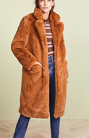 Apparis Laure Faux Fur Coat