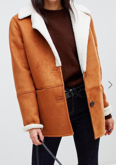 Stradivarius aviator jacket with contrast lining