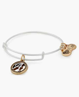 Two-Tone Initial Charm Expandable Bracelet ALEX AND ANI