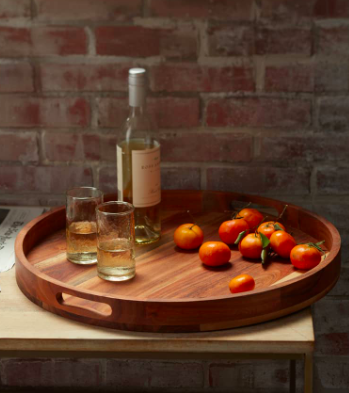 Large Round Acacia Wood Serving Tray NORDSTROM AT HOME