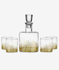 Daphne' Decanter & Whiskey Glasses AMERICAN ATELIER Price