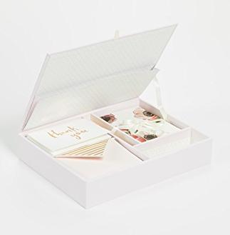 Kate Spade New York Blushing Floral Keepsake Thank You Card Box