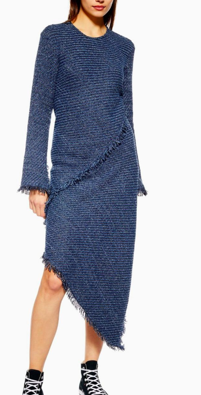 **Tweed Spiral Dress by Boutique