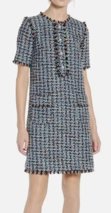 x Atlantic-Pacific Fringe Tweed Dress HALOGEN®