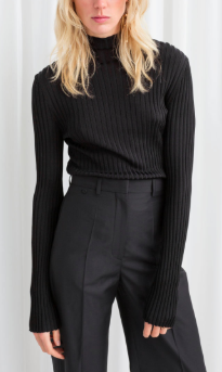 Stories Fitted Rib Knit Turtleneck