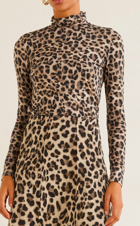 Mango Leopard-print t-shirt