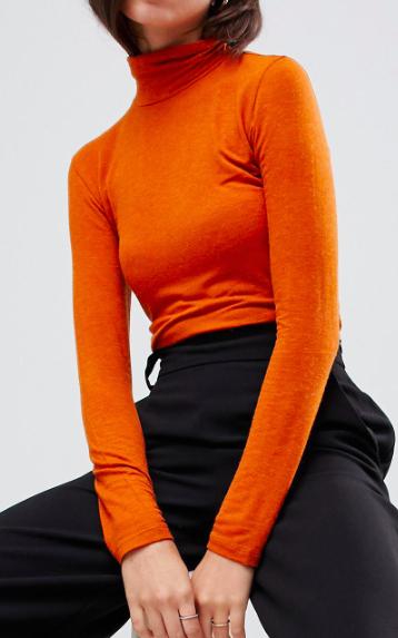 Y.A.S roll neck fine gauge sweater