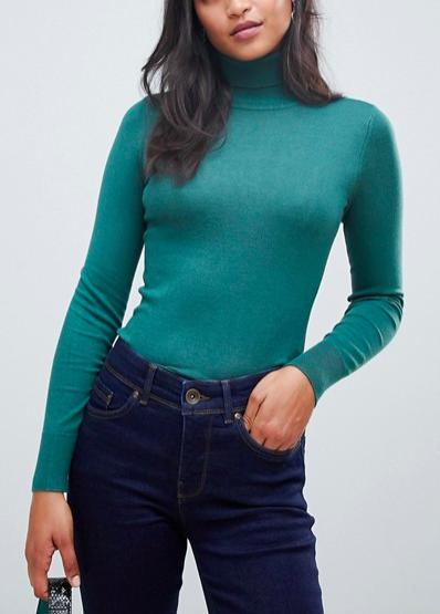Oasis turtleneck sweater in teal