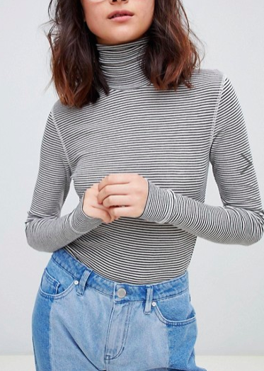 2NDDAY striped turtleneck striped top