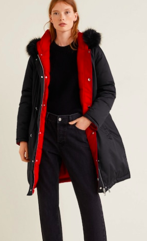 Mango Reversible feather down jacket