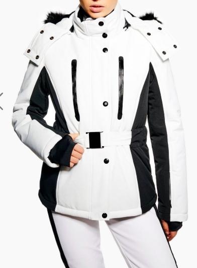 **Monochrome Colour Block Jacket by Topshop SNO