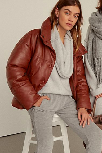 FP Leather Puffer Jacket