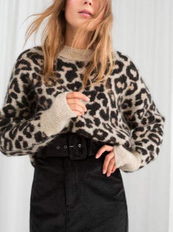 Stories Oversized Leopard Sweater