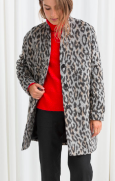 Stories Leopard Boxy Coat