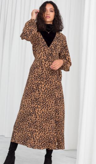 Stories Leopard Print Wrap Dress