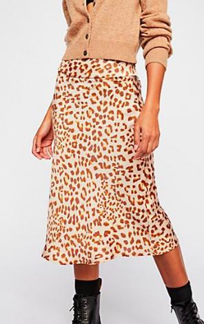 FP Normani Bias Printed Skirt