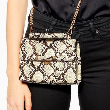 Topshop Marissa Snake Mini Bag