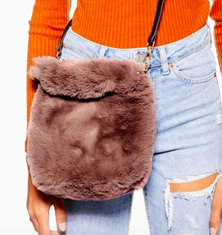 Topshop Teddy Faux Fur Bucket Bag